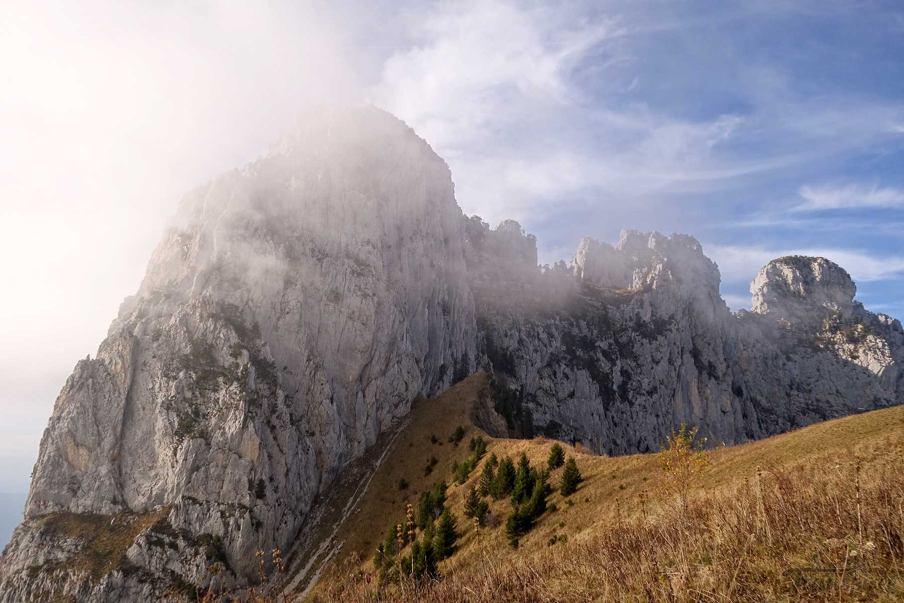 Randonnée au Roc de Lancrenaz depuis Planfait et le Col des Frêtes