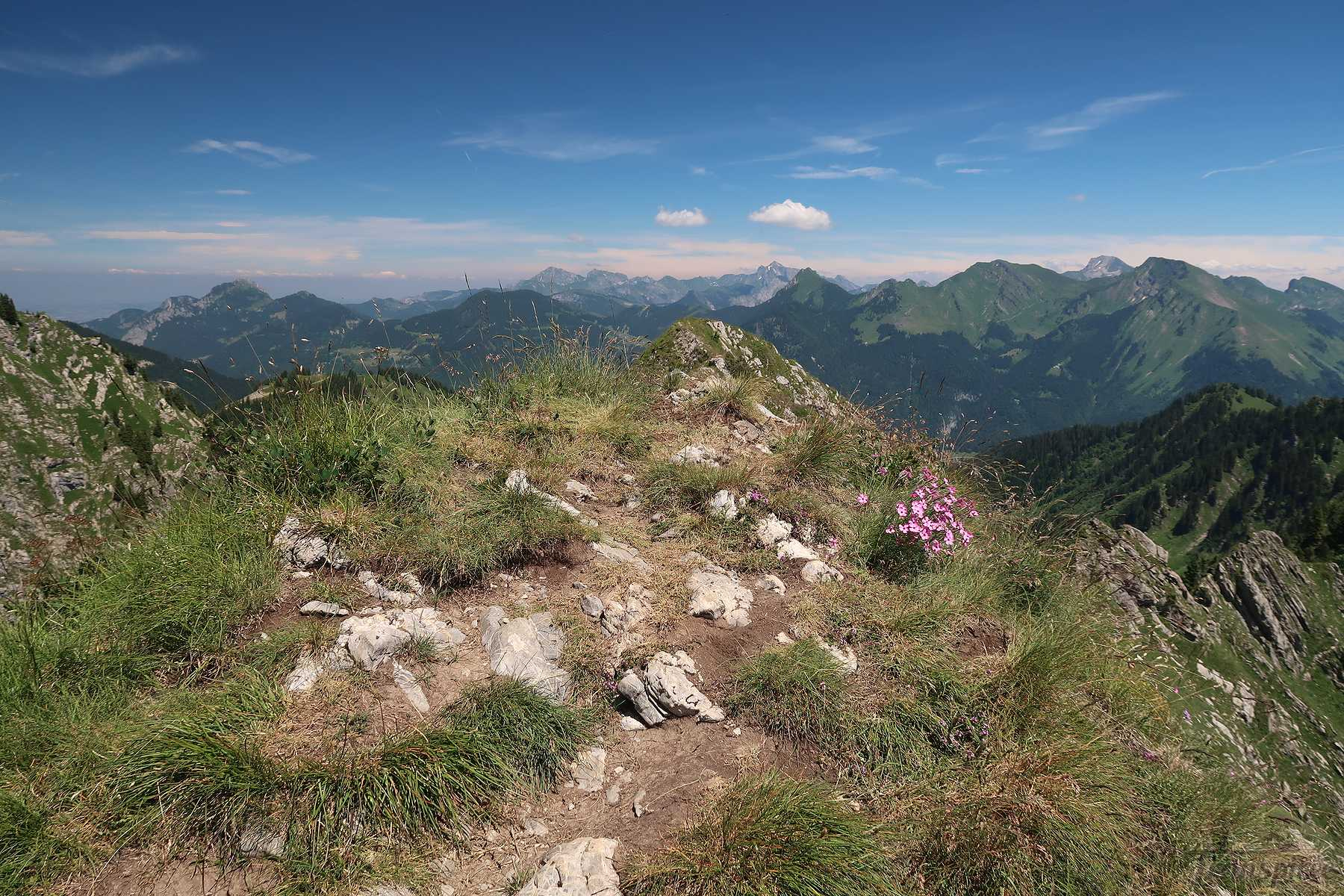 Randonnée à la Pointe de Ratti depuis le Col de l'Encrenaz et Graydon