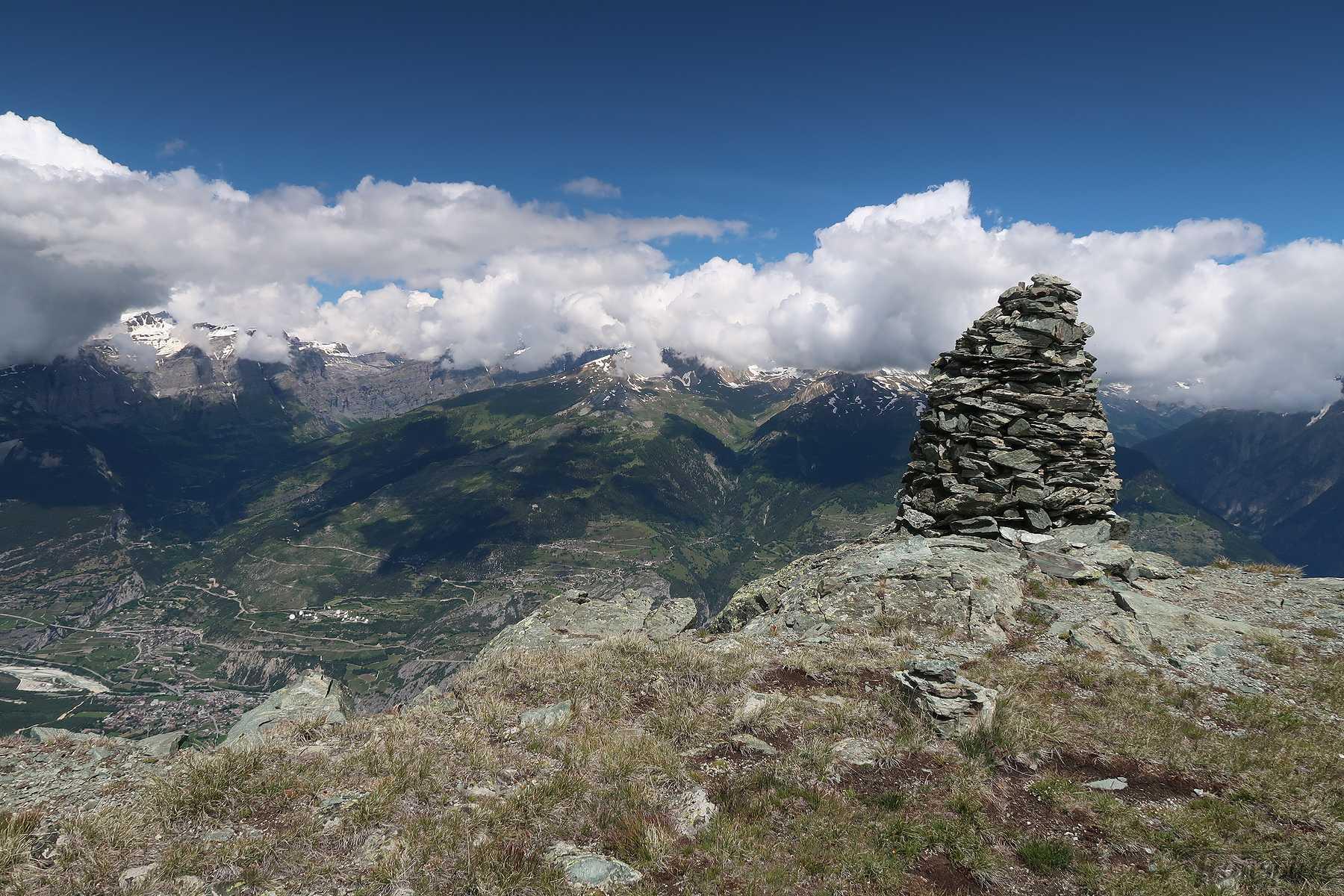 Randonnée au Emshorn depuis Oberems et Griebjini