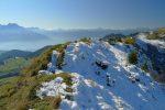 Sinon l'arête est superbe. Mont de Grande au centre du fond et Cornettes de Bise à droite