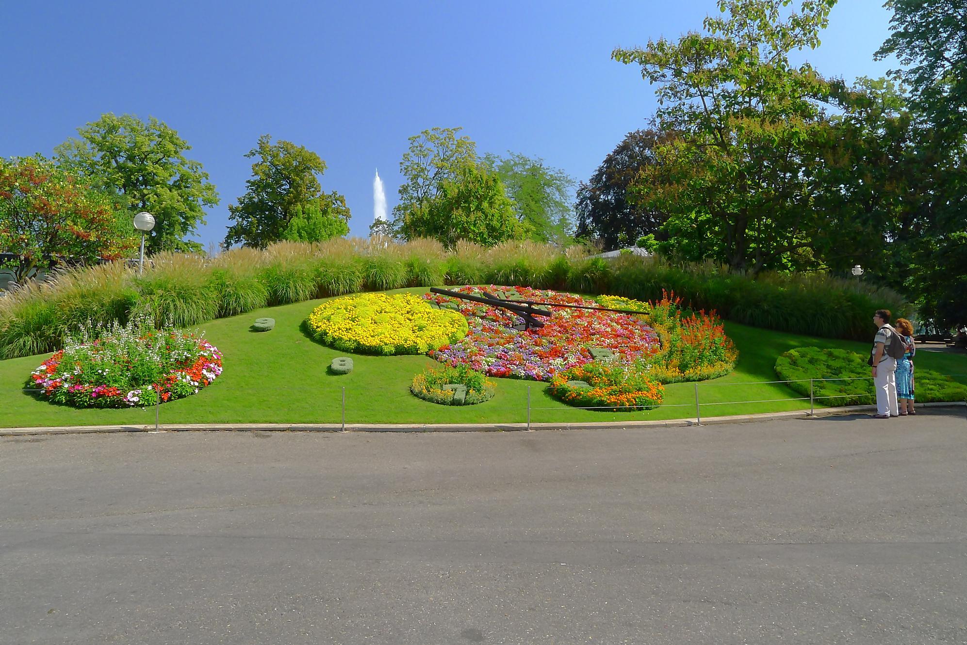 Randonn e au jet d eau de gen ve jardin anglais barrage for Jardin anglais geneve suisse