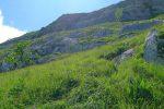 Puis une monte pentue pour rejoindre la pente herbeuse supérieure