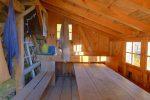 L'intérieur de la Schutzhütte.