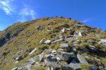 La crête E, son gros cairn, le sommet du Giferspitz est au fond à gauche