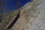 Escaliers mignons, secteur avalancheux en hiver