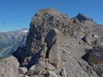 On voit un petit bout du glacier à côté du Pic de Tenneverge (Glaciers de Prazon ou Glacier du Ruan)