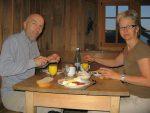 Nous sommes en suisse allemande, donc il y a un bon birtchermuesli au déjeuner
