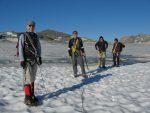 Nous rencontrons un trio fribourgeois dont pour les deux du fond, c'est une première glaciaire