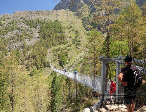 Randonnée à la nouvelle passerelle de Randa et Europahütte