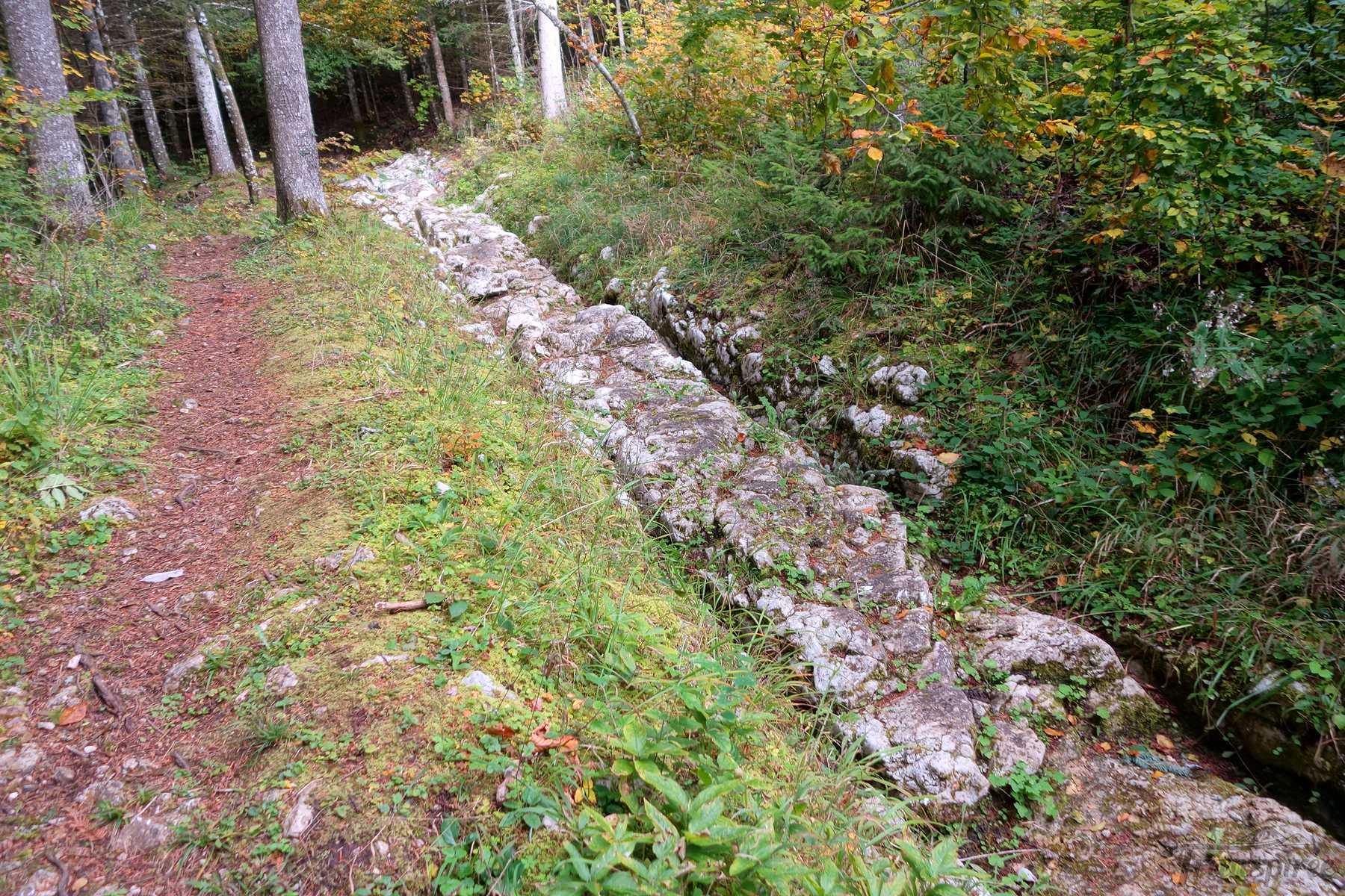 Randonnée dans la vallée de la Jougnena depuis Ballaigues et sa voie romaine et La Jougne