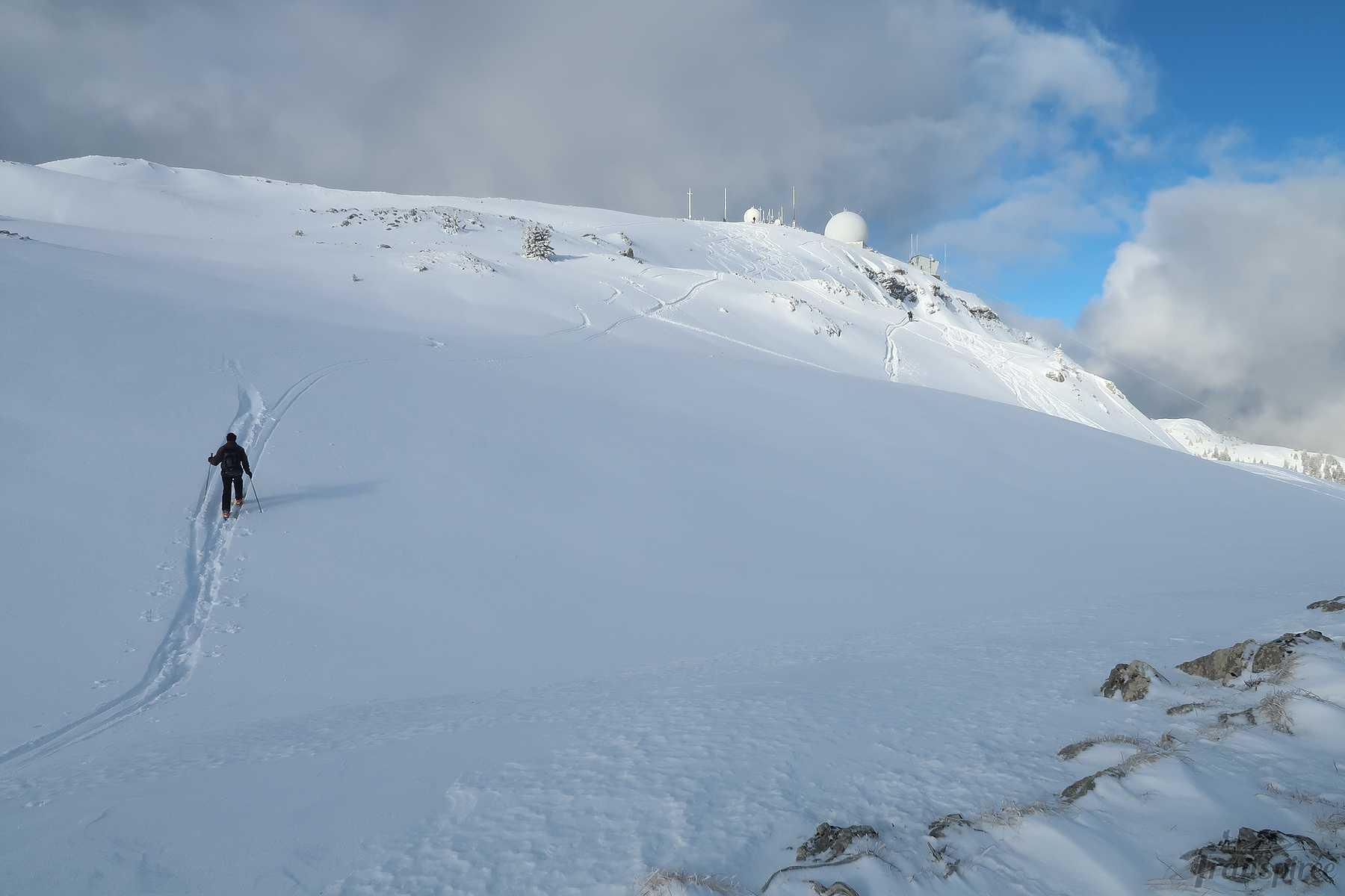 Randonnée en skis à La Dôle et Pointe de Poële Chaud depuis La St-Cergue