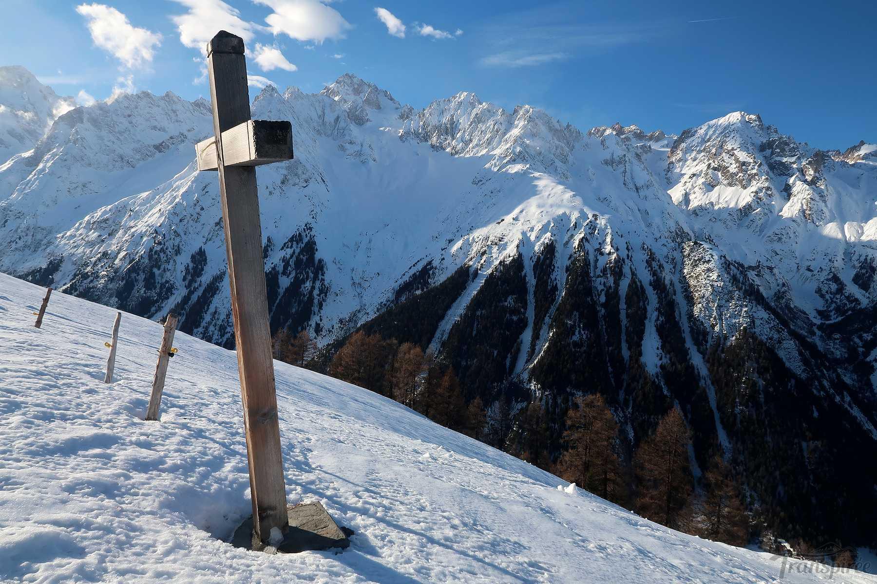 Ski de randonnée à La Sasse depuis Chalet Bérard
