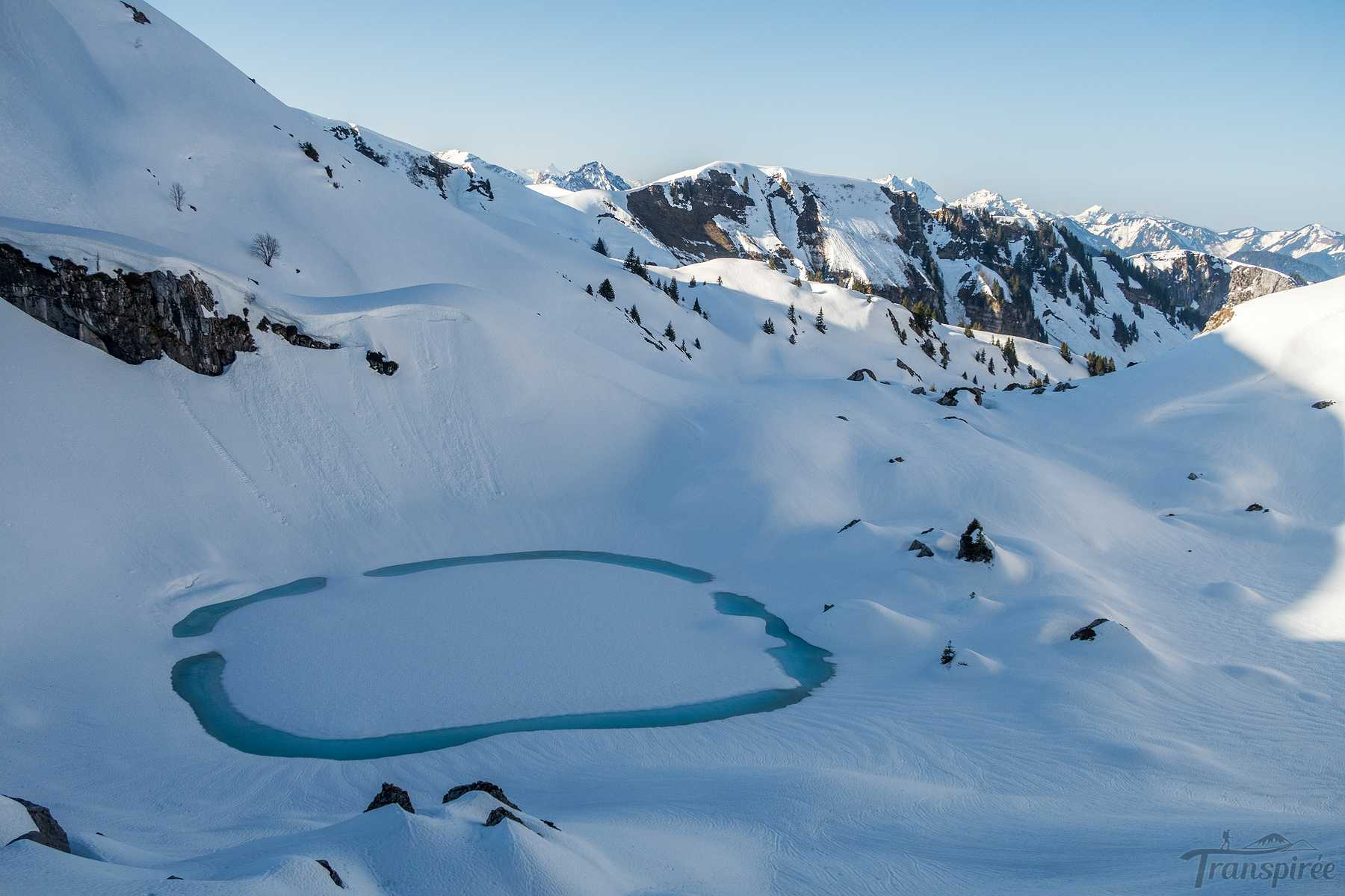 Ski de randonnée au Lac Darbon puis Col de Bise et Chalets de Neuteu depuis Novel