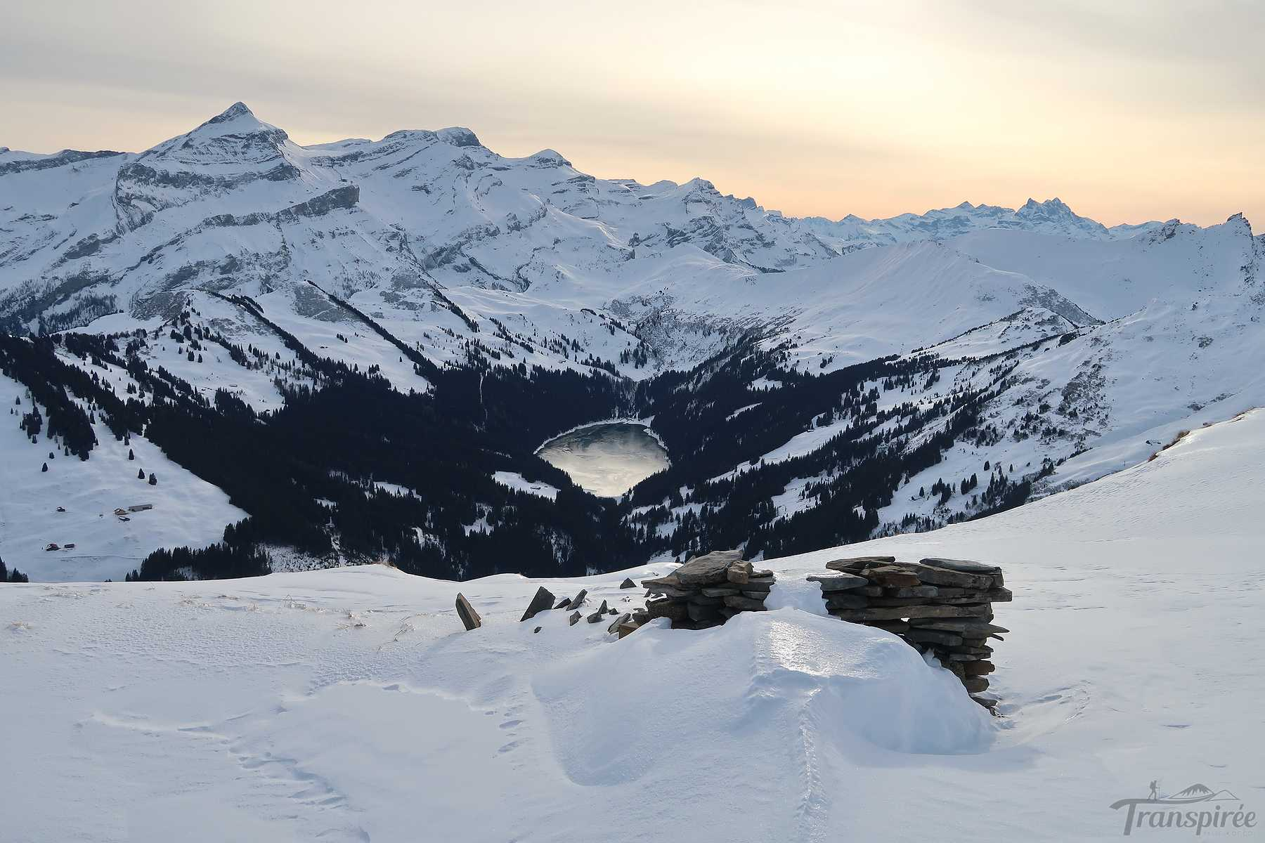 Randonnée en raquettes au Stadehore depuis Grund bei Gstaad