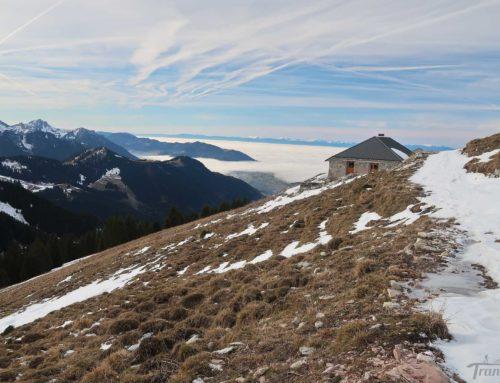 Randonnée en raquettes au col de la Neuva depuis La Planche (Novel) et le lac de la Joux