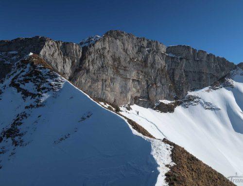 Ski de randonnée à Sur Tanney depuis le barrage de l'Hongrin