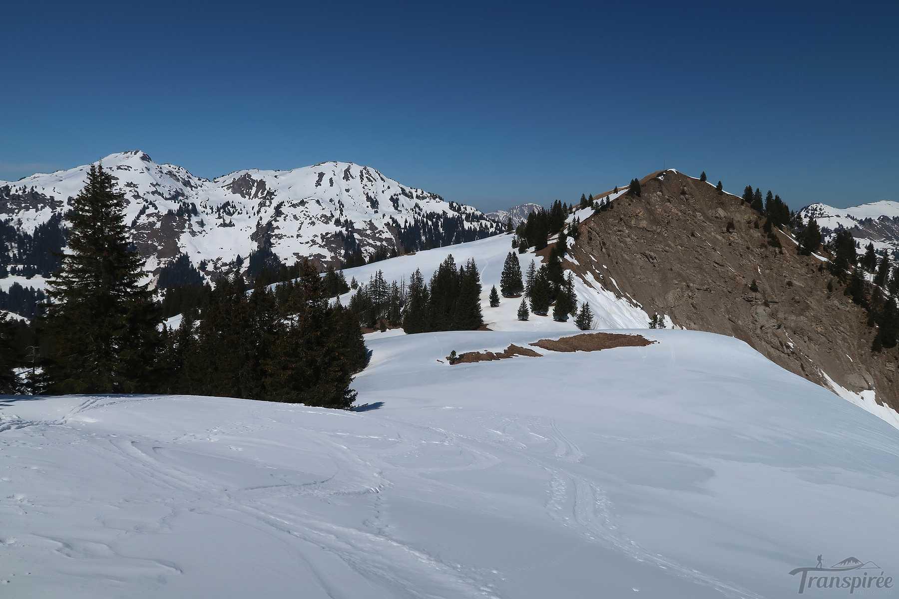 Ski de randonnée à Aussemont depuis l'Hongrin