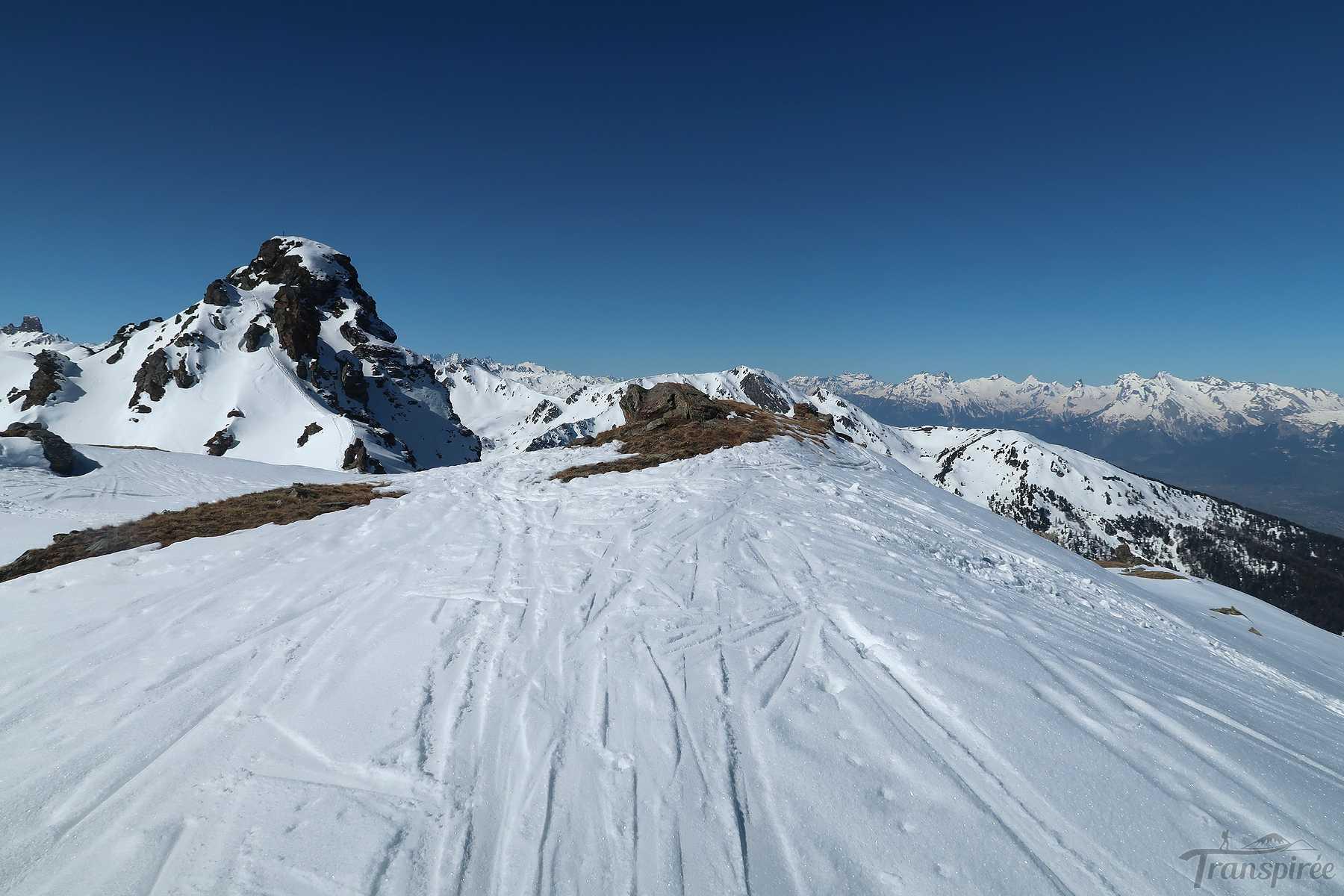 Ski de randonnée à La Brinta depuis Vercorin et le Crêt du Midi