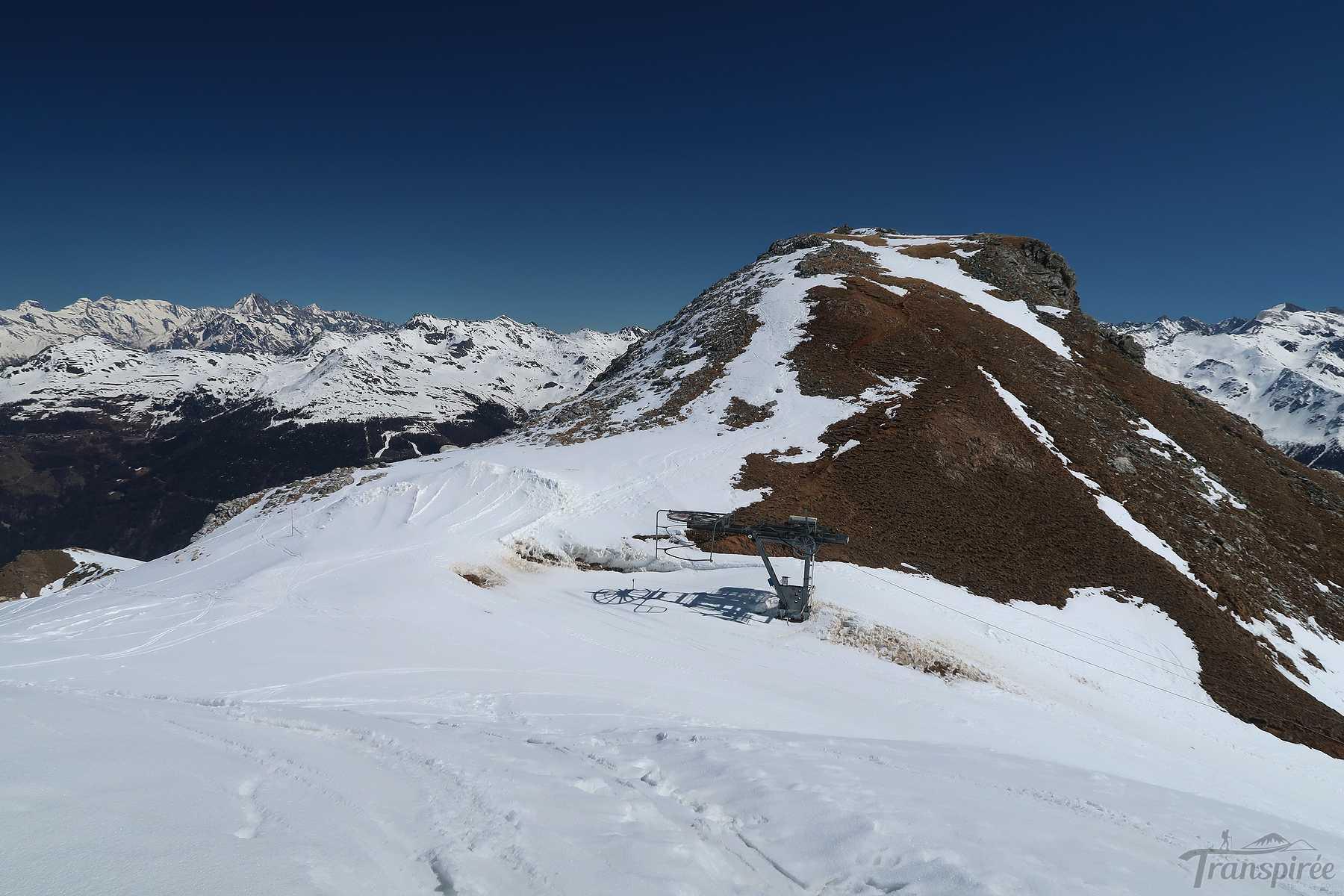 Ski de randonnée au Roc d'Orzival depuis Vercorin. Retour par les Evouettes