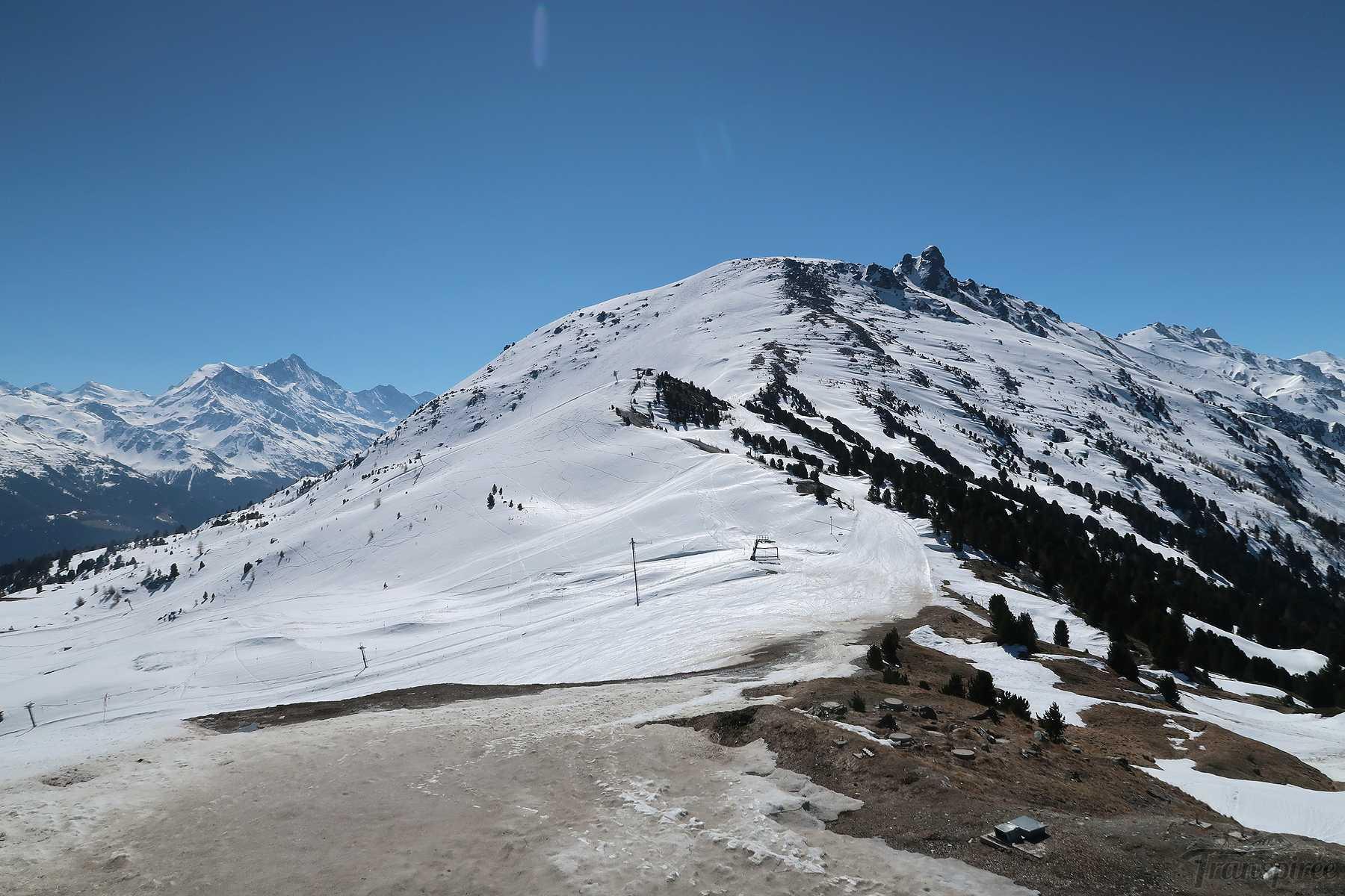 Ski de randonnée au Crêt du Midi depuis Vercorin et Santa Maria