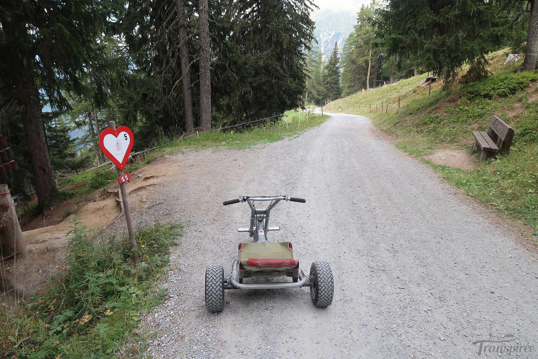 Descente en Mountain Cart de Flesch-Richinen à Bellwad