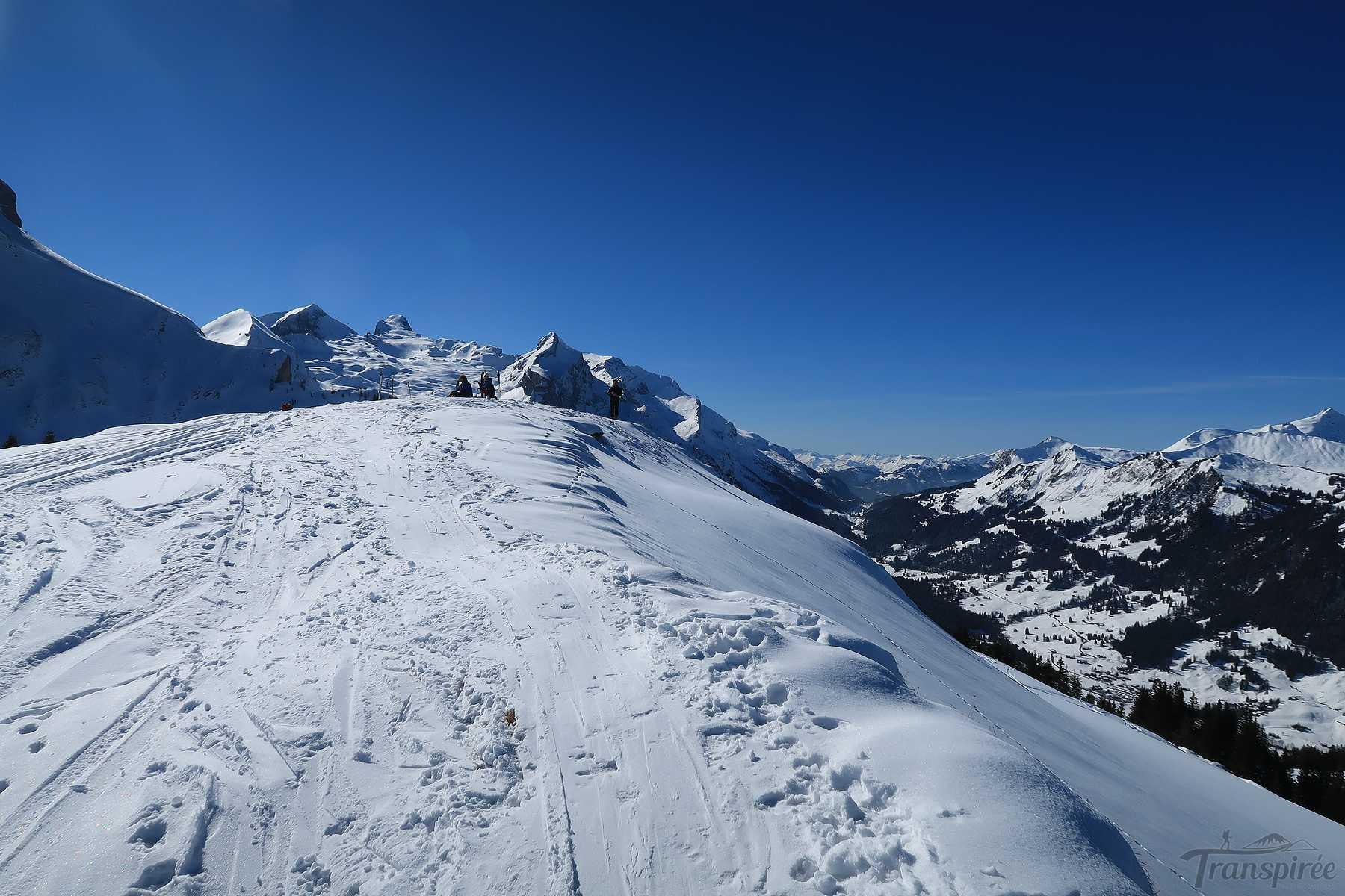Ski de randonnée au Walliser Wispile depuis Gsteig