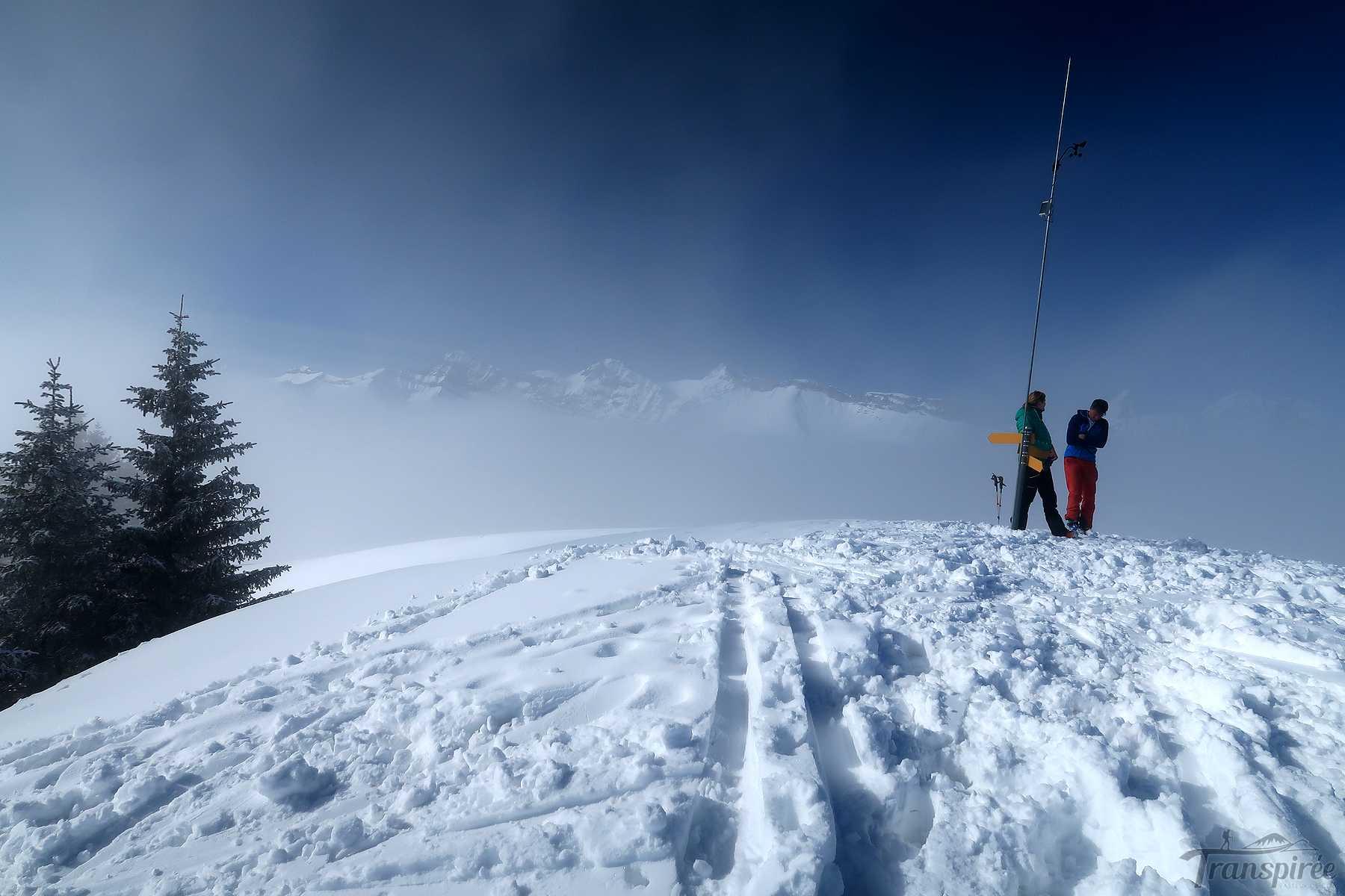 Ski de randonnée au Rodomonts depuis Saanen